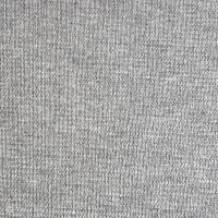 Organic Cotton Rib, heather light grey