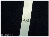 Printed Size Label XXS-XL, 50 pcs