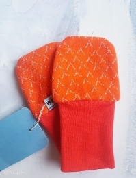 Aallot Baby Mittens, orange